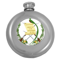National Emblem of Guatemala Round Hip Flask (5 oz)
