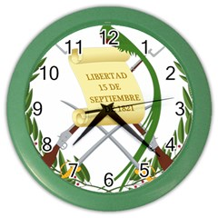 National Emblem of Guatemala Color Wall Clocks
