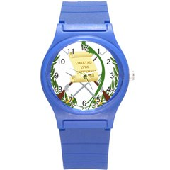 National Emblem of Guatemala Round Plastic Sport Watch (S)