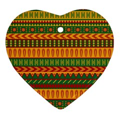 Mexican Pattern Ornament (Heart)