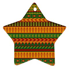 Mexican Pattern Ornament (star)