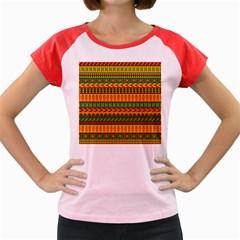 Mexican Pattern Women s Cap Sleeve T Shirt