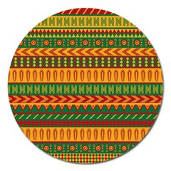 Mexican Pattern Magnet 5  (Round)