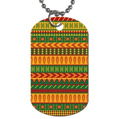 Mexican Pattern Dog Tag (One Side)