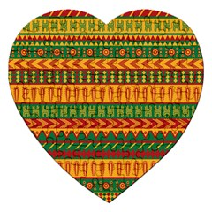 Mexican Pattern Jigsaw Puzzle (Heart)