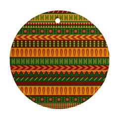 Mexican Pattern Round Ornament (Two Sides)
