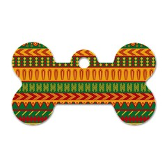 Mexican Pattern Dog Tag Bone (Two Sides)
