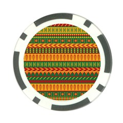 Mexican Pattern Poker Chip Card Guard