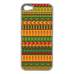 Mexican Pattern Apple iPhone 5 Case (Silver)