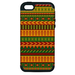 Mexican Pattern Apple Iphone 5 Hardshell Case (pc+silicone)