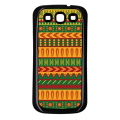 Mexican Pattern Samsung Galaxy S3 Back Case (Black)