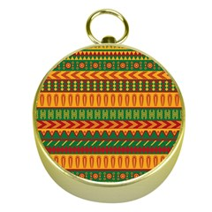 Mexican Pattern Gold Compasses