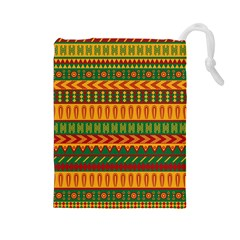 Mexican Pattern Drawstring Pouches (Large)