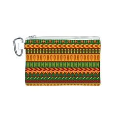 Mexican Pattern Canvas Cosmetic Bag (S)