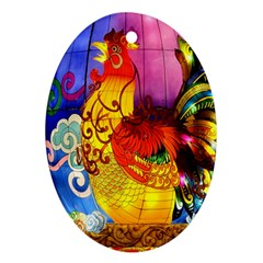 Chinese Zodiac Signs Oval Ornament (Two Sides)