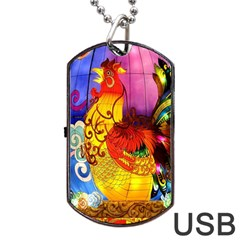 Chinese Zodiac Signs Dog Tag USB Flash (Two Sides)