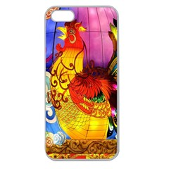 Chinese Zodiac Signs Apple Seamless iPhone 5 Case (Clear)