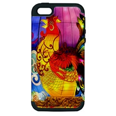 Chinese Zodiac Signs Apple iPhone 5 Hardshell Case (PC+Silicone)