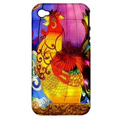 Chinese Zodiac Signs Apple iPhone 4/4S Hardshell Case (PC+Silicone)