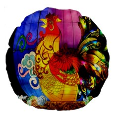 Chinese Zodiac Signs Large 18  Premium Round Cushions