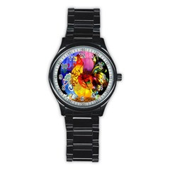 Chinese Zodiac Signs Stainless Steel Round Watch