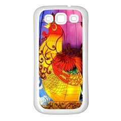 Chinese Zodiac Signs Samsung Galaxy S3 Back Case (White)