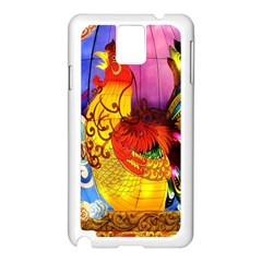 Chinese Zodiac Signs Samsung Galaxy Note 3 N9005 Case (White)