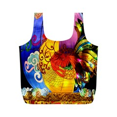 Chinese Zodiac Signs Full Print Recycle Bags (M)