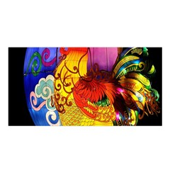 Chinese Zodiac Signs Satin Shawl