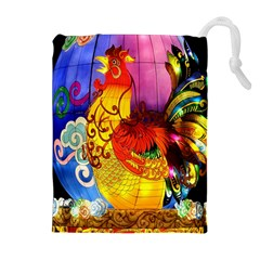 Chinese Zodiac Signs Drawstring Pouches (Extra Large)