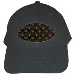 Abstract Stripes Pattern Black Cap