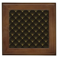 Abstract Stripes Pattern Framed Tiles