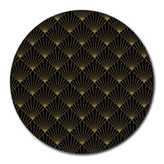 Abstract Stripes Pattern Round Mousepads