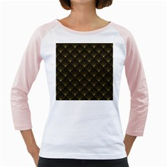 Abstract Stripes Pattern Girly Raglans