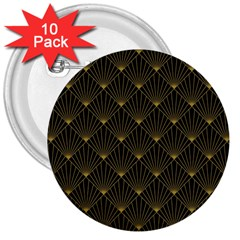 Abstract Stripes Pattern 3  Buttons (10 pack)