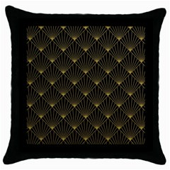 Abstract Stripes Pattern Throw Pillow Case (Black)