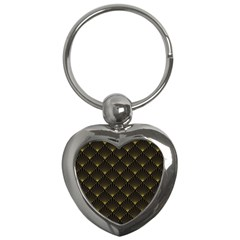 Abstract Stripes Pattern Key Chains (Heart)