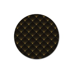 Abstract Stripes Pattern Rubber Coaster (Round)