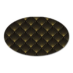 Abstract Stripes Pattern Oval Magnet