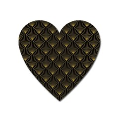 Abstract Stripes Pattern Heart Magnet