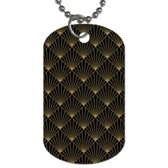 Abstract Stripes Pattern Dog Tag (One Side)