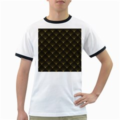 Abstract Stripes Pattern Ringer T-Shirts