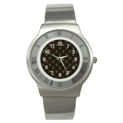 Abstract Stripes Pattern Stainless Steel Watch