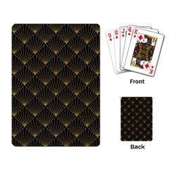 Abstract Stripes Pattern Playing Card