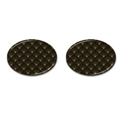 Abstract Stripes Pattern Cufflinks (Oval)