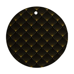Abstract Stripes Pattern Round Ornament (Two Sides)