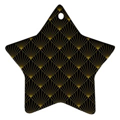 Abstract Stripes Pattern Star Ornament (Two Sides)