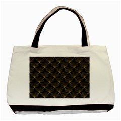 Abstract Stripes Pattern Basic Tote Bag (Two Sides)