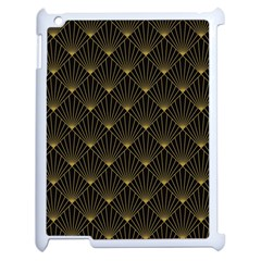 Abstract Stripes Pattern Apple iPad 2 Case (White)