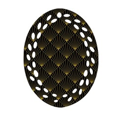 Abstract Stripes Pattern Ornament (Oval Filigree)